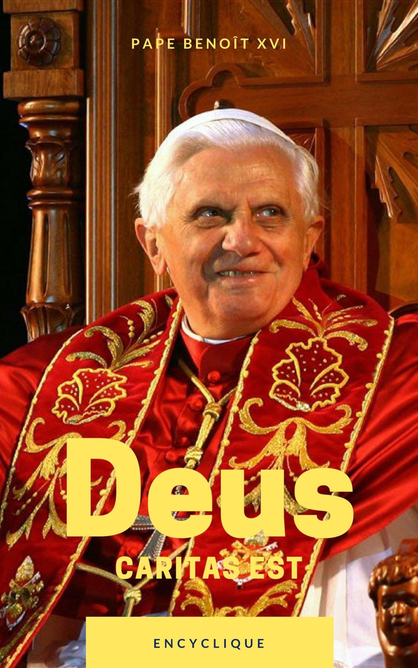 Deus caritas est est une encyclique au sujet de l'amour conjugal, de la sexualité et des oeuvres caritatives de l'Église. Disponible en format électronique sur ma boutique.