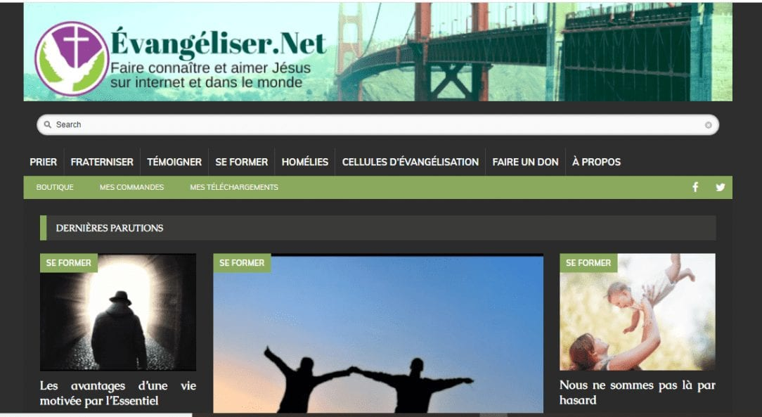 evangeliser.net screen schot